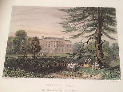 c.1830 Hand Coloured Print of Heckfield Park,  Hampshire