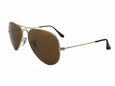 New Ray Ban Aviator RB3025 001/57 Gold/Crystal Brown Polarized 58mm Sunglasses