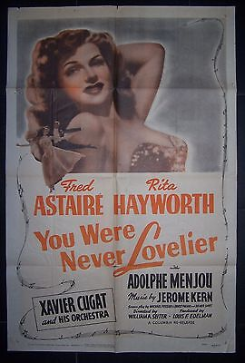 YOU WERE NEVER LOVELIER, Fred Astaire, Rita Hayworth, Original 1S ,re-1949 (240)