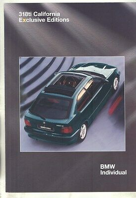 1994 BMW 318ti California Exclusive Edition Brochure d0947