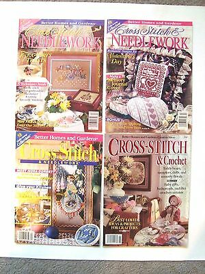 Lot of 4 Better Homes & Gardens Cross Stitch & Needlework Craft magazines
