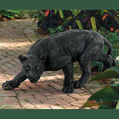 Garden Statue Ornament Decorative Patio Outdoor Sculpture Black Animal Panther