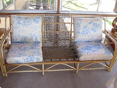 Ficks & Reed Co. Rattan Couch