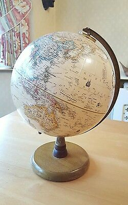 "Replogle 9"" Diameter Globe World Classic Series Legend, Wood Base & Stamped USA"