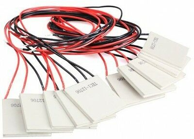 Vktech 10Pcs TEC1-12706 Thermoelectric Cooler Heat Sink Cooling Peltier 12V 5.8A