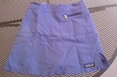 great PATAGONIA girl's skort skirt 7-8 small purple-blue