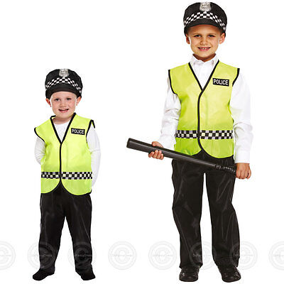 Boys Policeman Fancy Dress Costume Police Man Cop Officer Constable Childs Kids