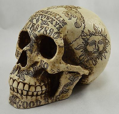Highly Detailed RARE Skull Statue/Ornament OUIJA BOARD Occult/Supernatural