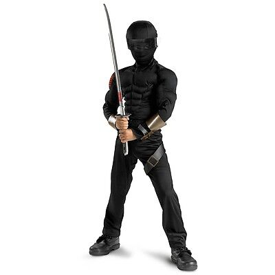 Snake Eyes Costume Kids Ninja GI Joe Halloween Fancy Dress