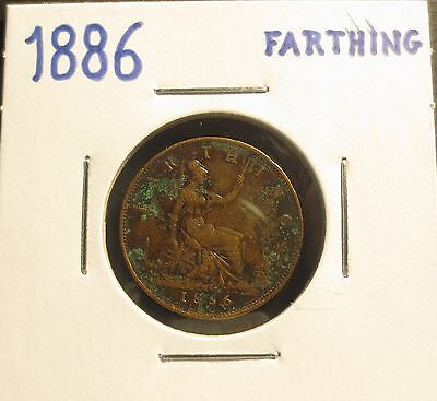 Great Britain 1886 Farthing..very Good