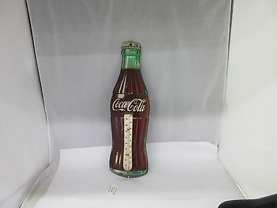 1950's Coca-Cola Bottle Thermometer Die Cut BOTTLE SHAPED G-102