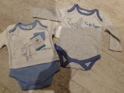 disney baby boy long sleeve vests x 2, newborn, new with tags