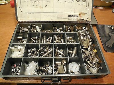 Large Assortment of Commercial Kitchen Hose Fittings w/ Organizer
