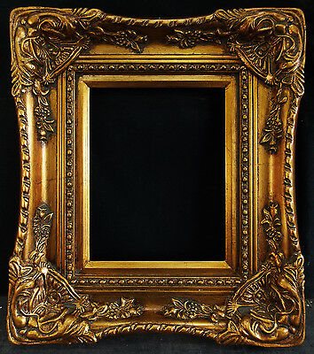 """Antique Reproduction Ornate Gold Frame 8"""" x 10"""", 3 1/2"""" Wide, 2"""" Thick"""