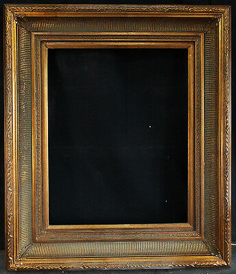"""Antique Reproduction Ornate Gold Frame 16"""" x 20"""", 4"""" Wide, 2 1/4"""" Thick"""
