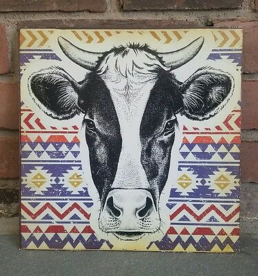 NEW Tin COW Wall Hanging Farmhouse Country Decor FARM metal sign