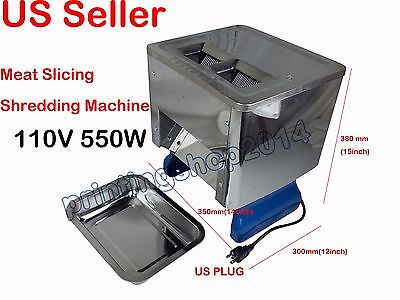 110V Desktop Meat Slicing Shredding Cutting Machine Cutter Slicer 550W