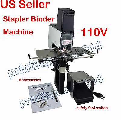 110V Auto Rapid Stapler Book Binding Flat / Saddle Riding Binder With Pedal