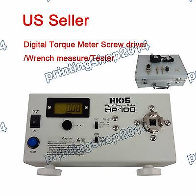Newly HP-100 Digital Torque Meter Screw driver/Wrench measure Tester 110V