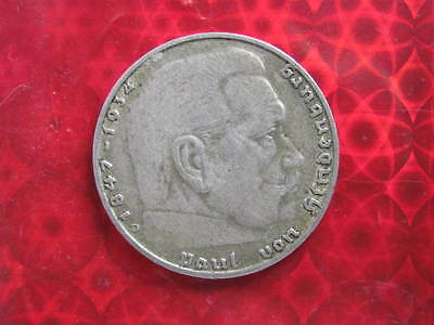 1937-D Germany 2 Marks circulated grade (Swastika)
