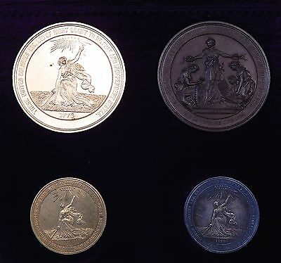 1776-1876 100th Anniversary of American Independence Medals Set Original BOX!