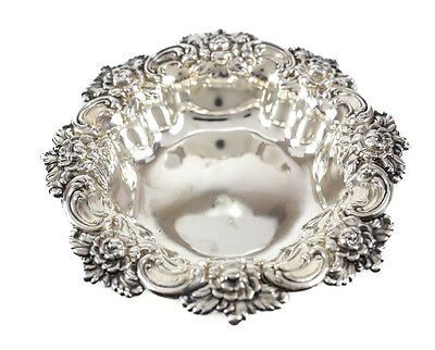 Frank M. Whiting Sterling Silver Bowl Dish Repousse Florals #394. c.1910