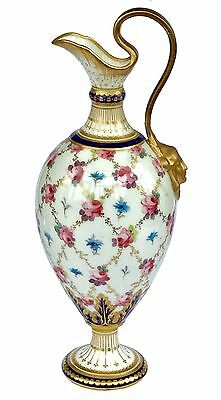 """19th Century Royal Crown Derby Porcelain hand painted Vase circa 1895 7"""" High"""