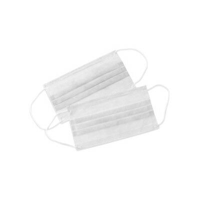 500 Earloop Face Mask 3 PLY Disposable Dental Medical Surgical Flu Dust Nail