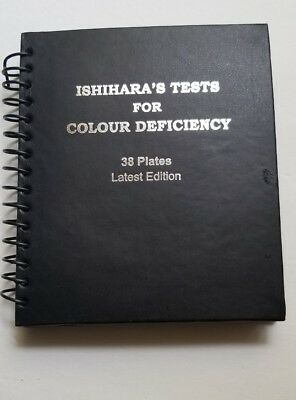 Ishihara Test Book Plates Color Blindness Eye Testing w/ OCCLUDER USA Shipping