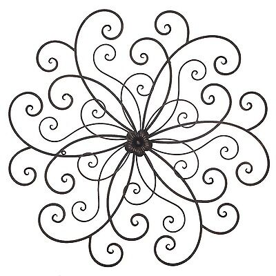 Flower & Butterfly Urban Design Metal Wall Decor for Nature Home Art Decoration
