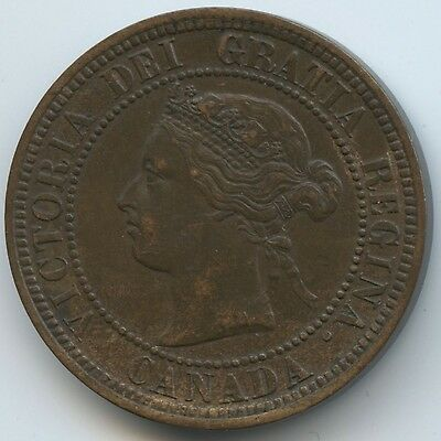 1876 H Canada One Cent (J700)