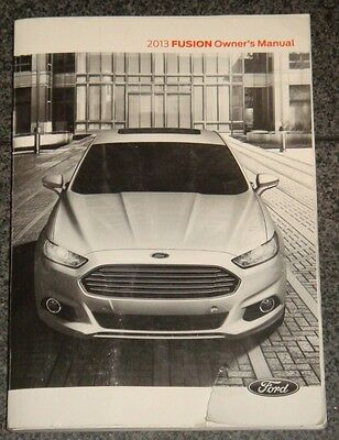 13 2013 ford fusion owners manual 8 03 picclick rh picclick com 2013 Ford Fusion Hybrid Diagram White Ford Fusion Hybrid 2013