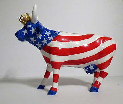 Cow Parade 2001 American Royal Cow Figurine #9189  Retired