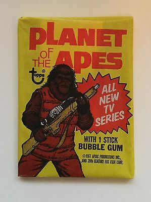 Planet of the Apes Tv show cards rare sealed pack 1970s