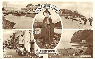 UK Old Postcard Greetings from Abersoch