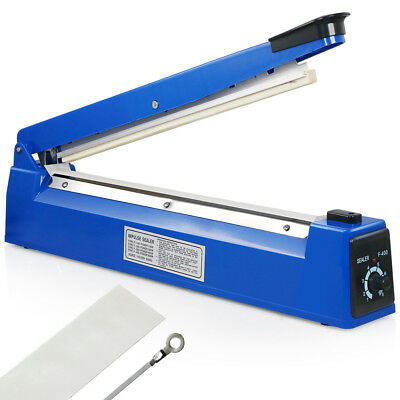 "16"" 400mm Manual Impulse Heat Sealer Poly Bag Machine Shrink Wrap Free Element"