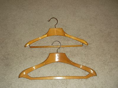 2 Vintage Wishbone Large Suit Wood Coat Hanger Made In Belgium By Bolux