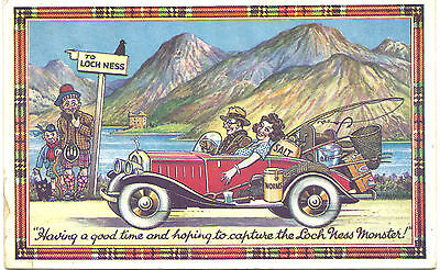 UK Old Postcard To Lock Ness