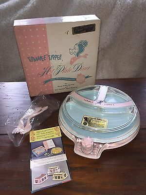Vintage Tommee Tippee Hot Plate Diner Baby Feeding Dish w/Fork & Spoon  NOS