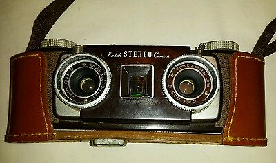 Kodak Stereo Camera with leather case and lens cover
