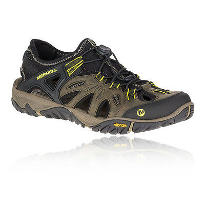Merrell All Out Blaze Sieve Mens Brown Black Waterproof Walking Shoes Sandals
