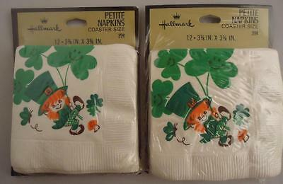 Lot Vtg Irish St. Patrick's Day Leprechaun Hallmark Napkins Party Decorations