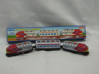 Schylling ~ Wind Up Medal Toy Train ~ Box