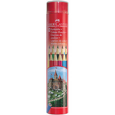 Faber-Castell - Classic Hexagonal Colour Pencils - Round Tin of 12