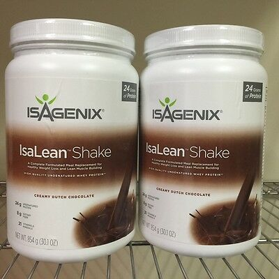 FREE POST Isagenix IsaLean 2 Hi Protein Chocolate Shake Tubs Meal Replacement