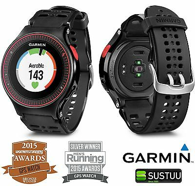 Garmin Forerunner 225 GPS Sports Running Wrist Watch + Heart Rate Monitor BLK/RD