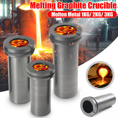 1/2/3 KG High Purity Graphite Foundry Crucible Gold&Silver Melting Refining Tool