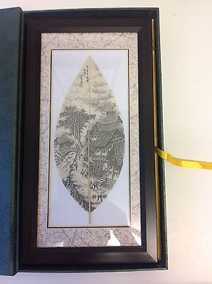 Chinese Everleaf Vein painting, Framed And In Presentation Box