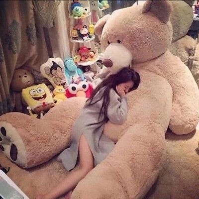 """133''120''78"""" Giant Teddy Bear Cover ( Only Outer Shell with Zipper ) 100-340cm"""