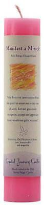 "Crystal Journey's Manifest a Miracle Reiki Charged 7"" Pillar Candle!"